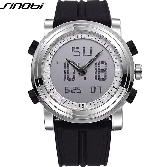 937a64af413 Sinobi Top Marca de Luxo Homens Relógio 2018 Do Esporte Da Forma Homens  Relógio Dupla Afixação