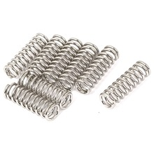 Uxcell New Hot 7pcs Metal Dual Hook Small Tension Spring Silver Tone 8mmx1.2mmx25mm Compression Springs Hardware Accessories
