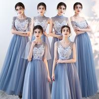 Bridesmaid Wedding Dress Elegant Lady Long Slim Qipao Improved Mesh Cheongsam Sexy Prom Party Dresses Graduation Gowns XS XXL