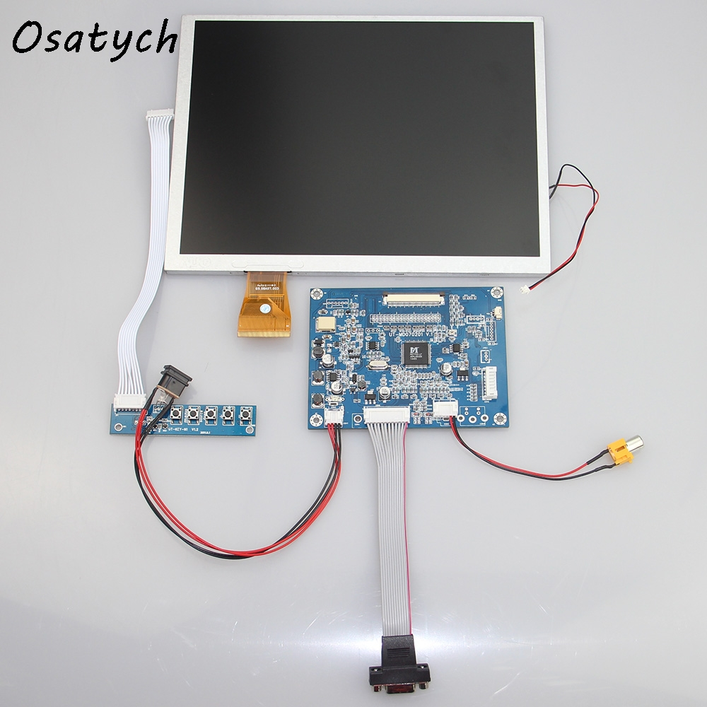 VGA+AV Driver board+10.4inch 800*600 for A104SN03 4:3 LCD Panel With Touch Screen vga 2av revering driver board 8inch 800 600 lcd panel ej080na 05b touch panel