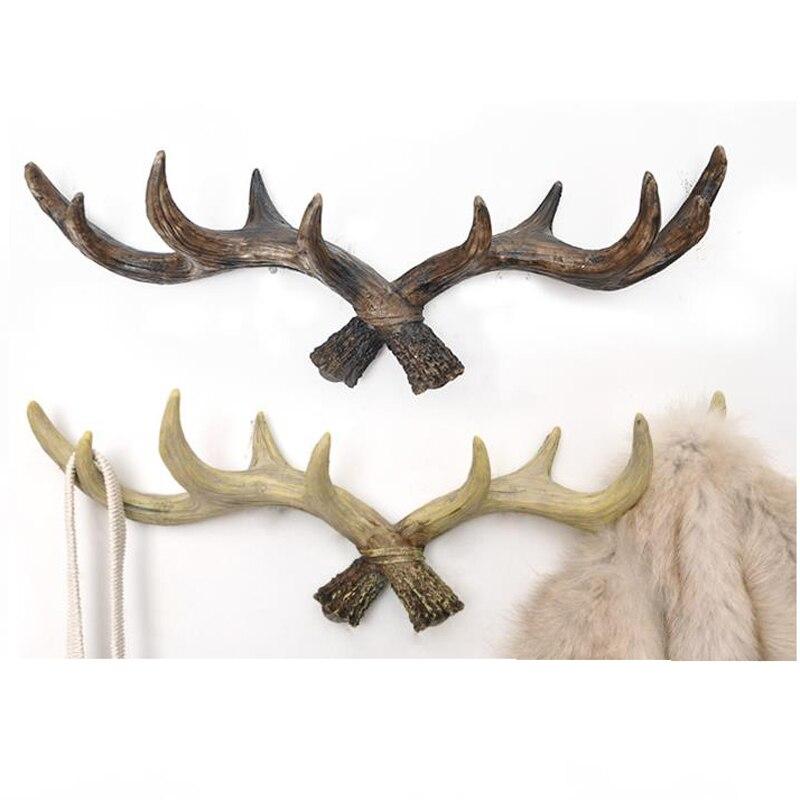 Retro coat rack antlers decoration Deer Head Animal Hanging hook creative Home decorative Living room bedroom wall decorations