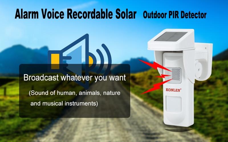 Outdoor PIR solar detector 1