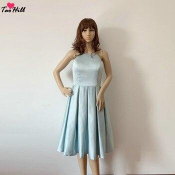 30eb6e80f TaoHill vestidos de noche para las mujeres espaguetis cuello vestido azul