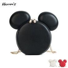 Мини модная женская сумка для мыши, дизайнерские брендовые сумки, мультяшная мышь, большие уши, сумки на плечо, портативная мультяшная сумка почтальонка, подарок
