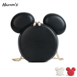 Mini de las mujeres de la moda ratón bolsa diseñador bolsos de marca de dibujos animados ratón orejas grandes bolsas de hombro portátil de dibujos animados bolsa de mensajero de regalo