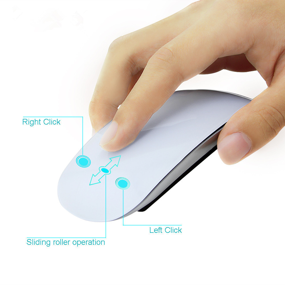 CHYI Wireless Magic Mouse Slim Ergonomic USB Optical Computer Mice Touch Scroll Ultra Thin Mouse For Mac Apple Laptop Notebook new mini retractable usb optical mouse for pc laptop notebook scroll wheel colorful mice dropshipping