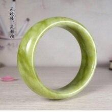 Красивый браслет китайский нефрит ручной резной браслет 50 мм-70 мм натуральный нефрит KYY8756