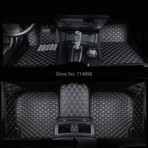Image 3 - Carnong car mat floor Leather for AUDI TT 4 seat from 2008 2016 full set  pls remark the year of your car for our confirm