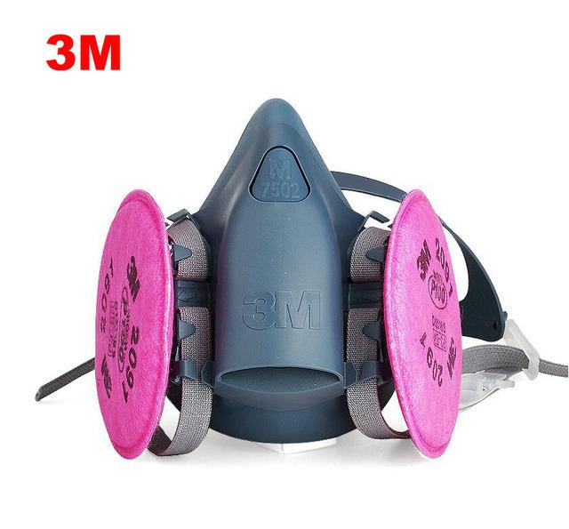 Envío libre máscara de polvo de humo de soldadura industrial 2091 3 m7502 respiradores máscaras contra el polvo de fibra de vidrio