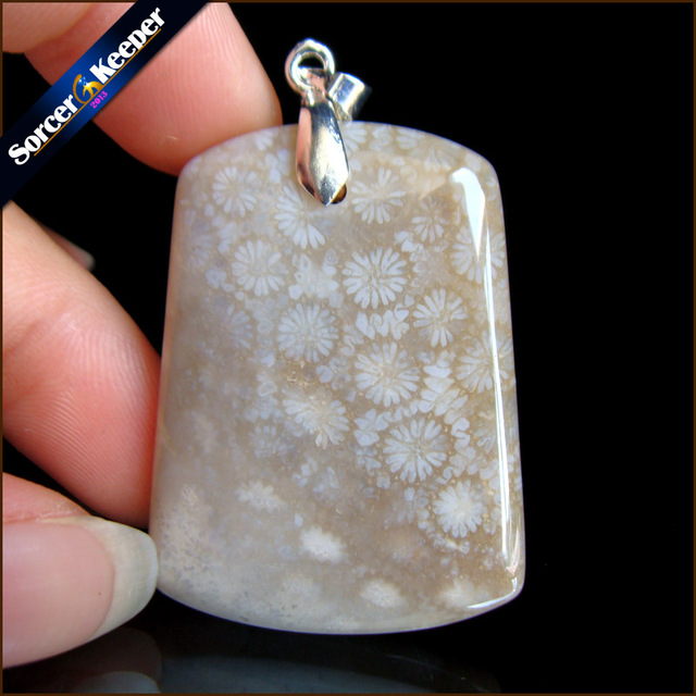 High quality natural coral fossil chrysanthemum stone lucky amulet high quality natural coral fossil chrysanthemum stone lucky amulet pendant necklace for women men pendants fashion mozeypictures Images