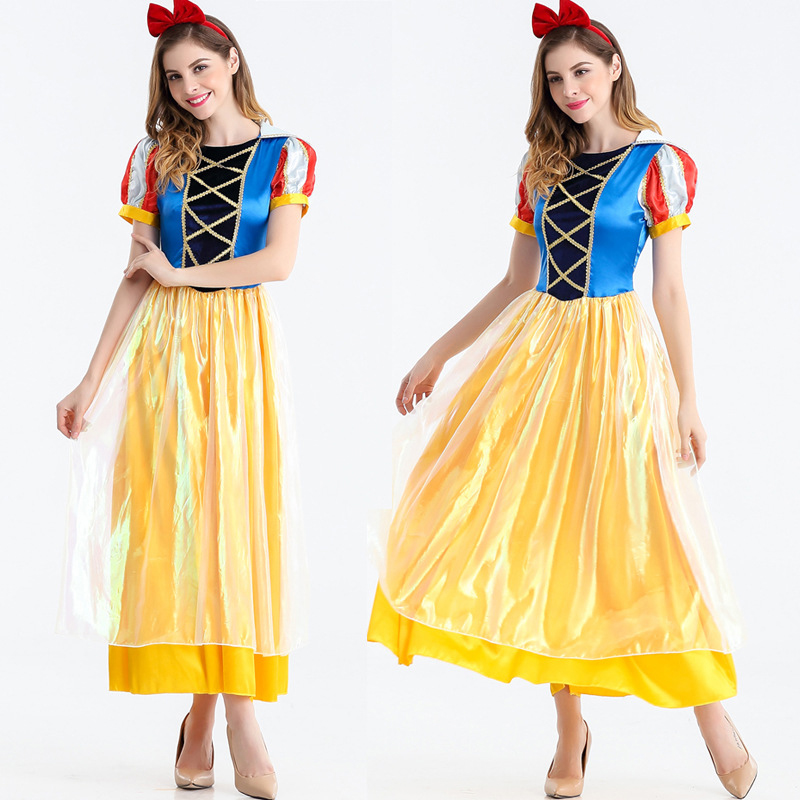 2018 quality Halloween Princess dress female adult fairy tale Snow White costume cosplay role-playing party carnival suit
