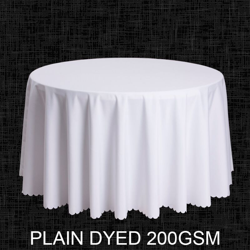 Size Polyester White Round Table Cloth Wedding Tablecloth Party Cover Square Dining Linen
