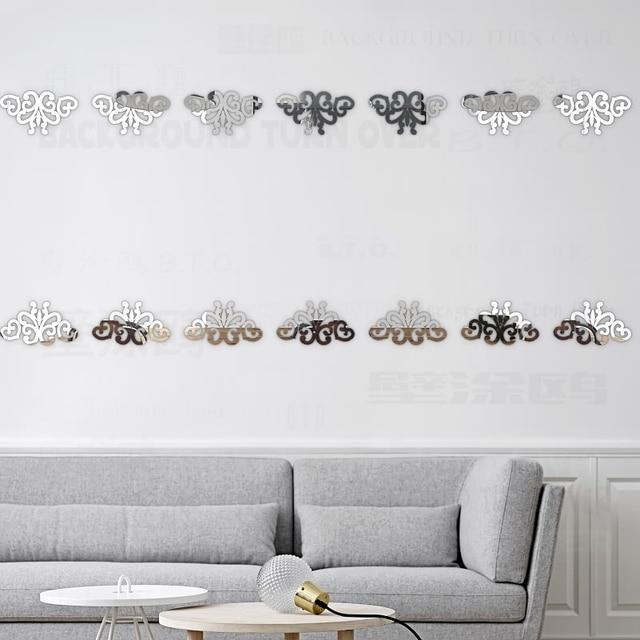 Letto Da Muro.Modo Creativo Europeo Modello Linea Di Cintura Specchi Adesivi Da