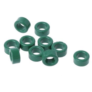 10Pc Power Transformer Ferrite Ring Inductor Coil Green Iron Toroid Ferrite Core