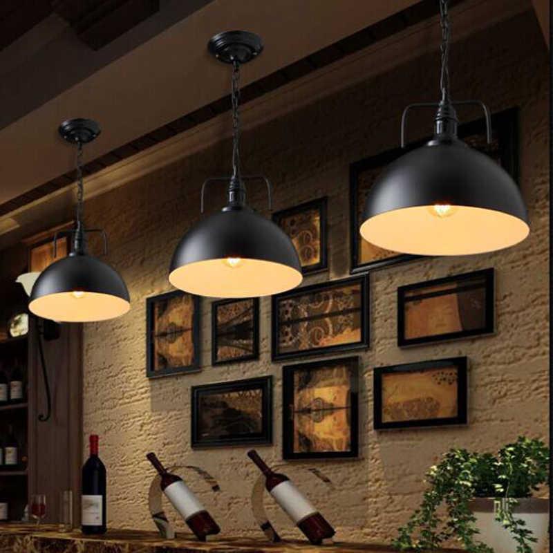 Винтаж подвесные светильники промышленные Лофт лампа E27 Nordic ресторан Кухня Ночник светильник Лофт бар гостиной лампа