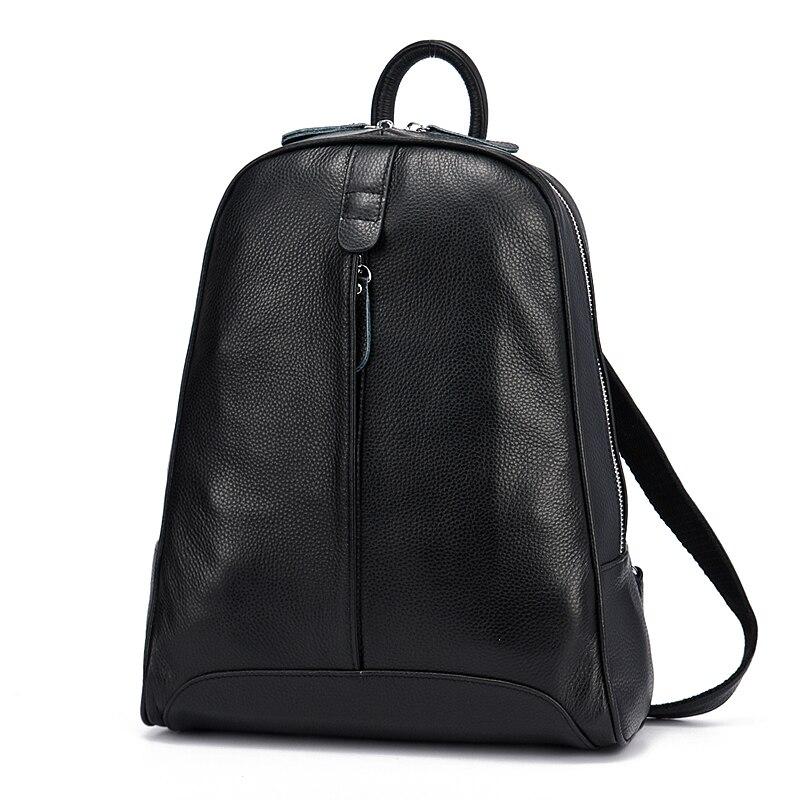 ZENCY 9 Color Women 100% Genuine Real Cow Leather Real Cowhide Black White Gray Beige Backpacks Ladies's Schoolbag Teenagers Bag