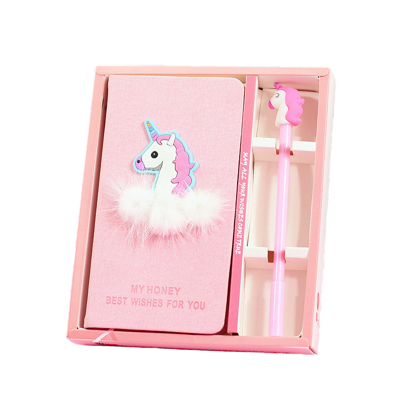 Girls Heart Unicorn Notebook Hand Book Student Diary Learning Office Stationery Gifts for Girls