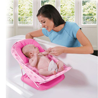 Babybadje babybadje bed vouwen plastic baby bad baden stoel seat zuigeling kinderen peuter kleine badkuipen rood groen
