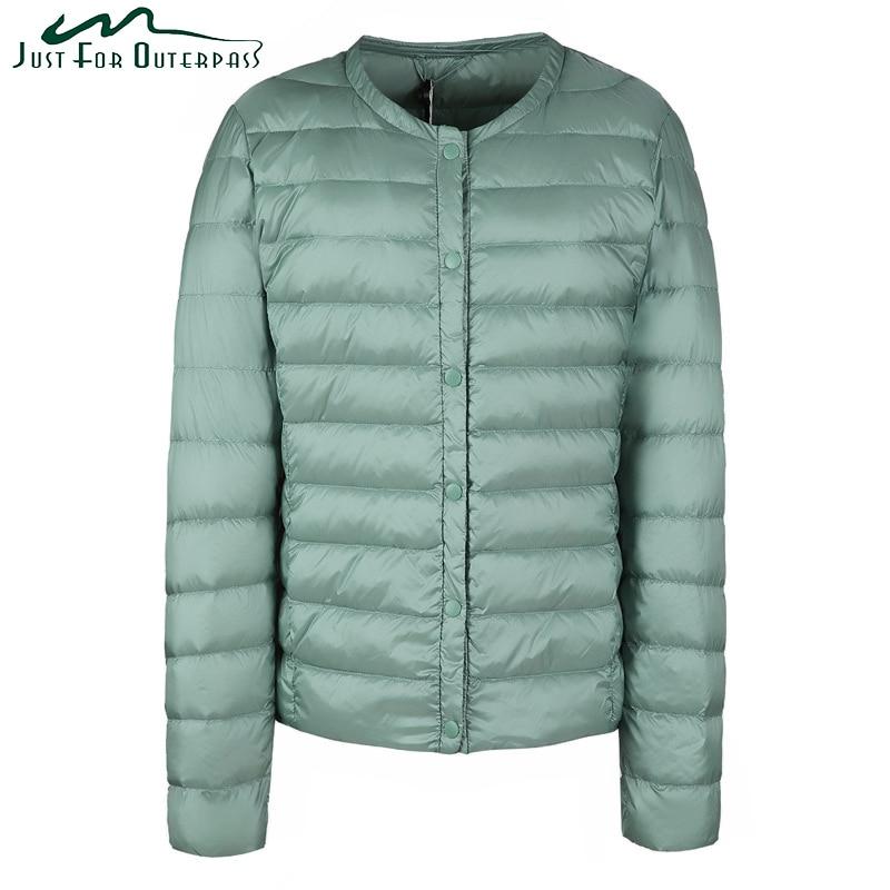 2017 Nouveau Printemps Automne Blanc Duvet de Canard Manteau Femmes Mode Casual Col Ultra Lumière Vers Le Bas Veste Femme Chaud Parka Plus taille