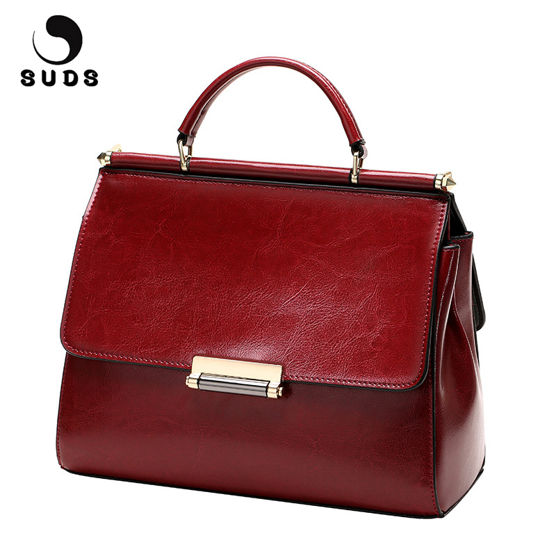 SUDS Brand Women Fashion Genuine Leather Handbags Designer High Quality Cow Leather Small Crossbody Bag Female Shopping Tote Bag suds brand genuine leather 2018 fashion women small shoulder bag high quality cow leather women messenger bag crossbody flap bag