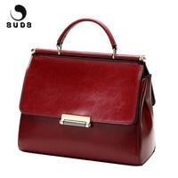 SUDS Brand Women Fashion Genuine Leather Handbags Designer High Quality Cow Leather Small Crossbody Bag Female Shopping Tote Bag