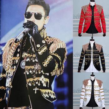 men tassel suits designs masculino homme terno stage costumes for singers men sequin blazer dance clothes star style dress black