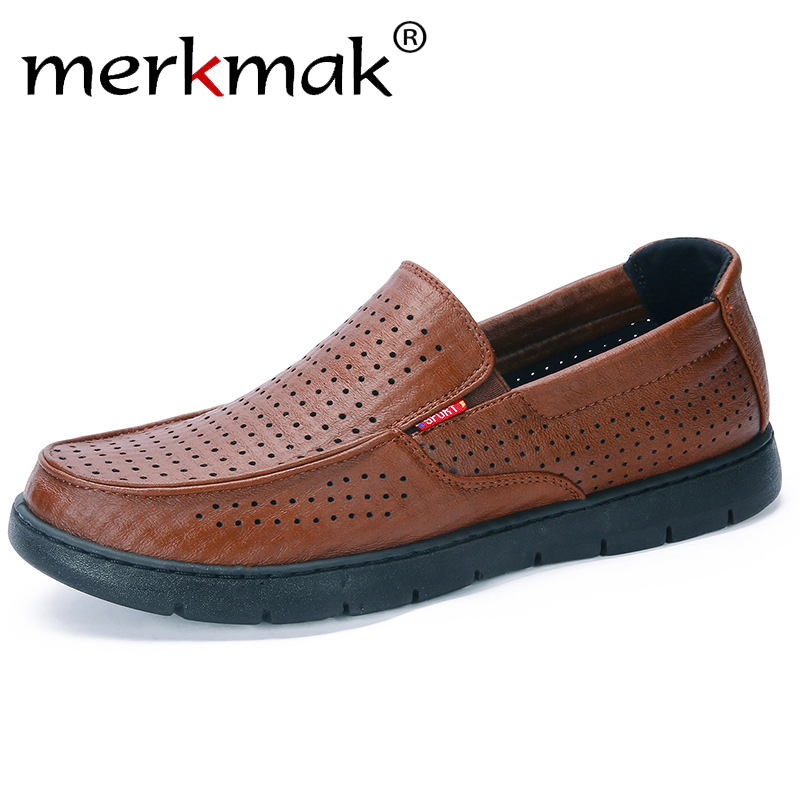 Merkmak Men Shoes Casual Flats Oxford Breathable Size-44 New on Business Loafers Soft-Slip