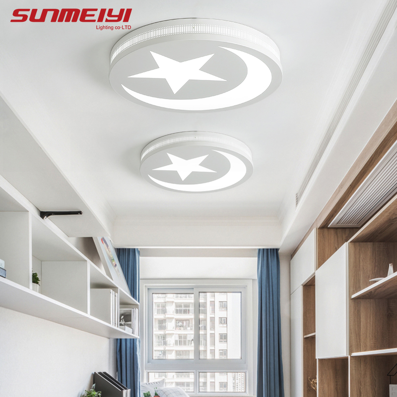 Dimmable LED Ceiling Lights Round Modern Lighting Fixture