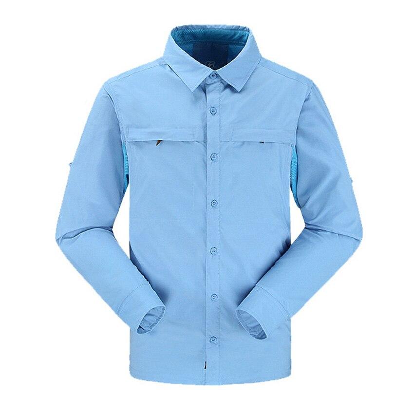 Nonstop spring outdoor hiking shirt men long sleeve quick for Uv fishing shirts