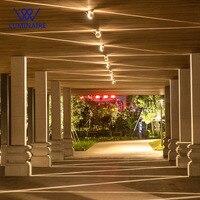 VW LED outdoor licht 6 W CREE led fenster lichter aluminium wasserdichte decke veranda lichter Garten projektor außen beleuchtung-in Outdoor-Wandlampen aus Licht & Beleuchtung bei