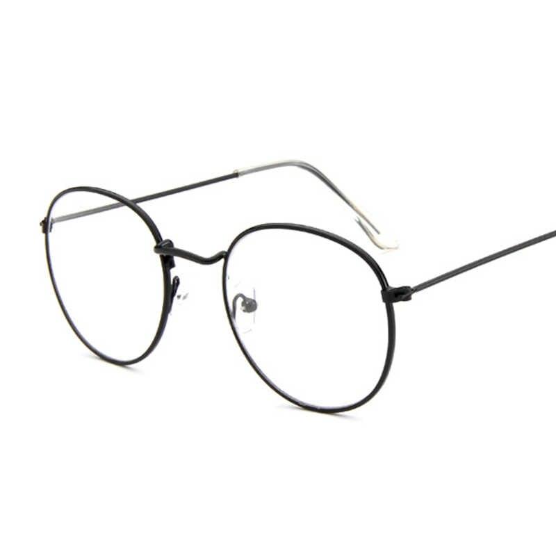 แฟชั่น Retro ผู้หญิงกรอบแว่นตากรอบแว่นตา VINTAGE VINTAGE รอบเลนส์โปร่งใส Sun กรอบแว่นตาผู้หญิง