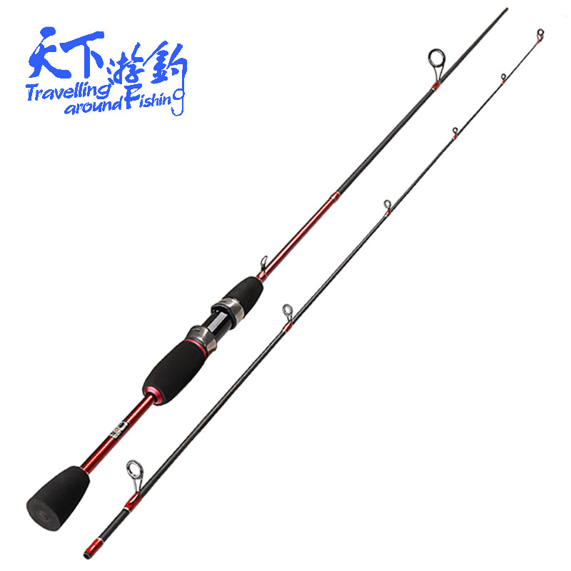 UL 1.8m Ultralight Spinning Rods 0.8-5g Lure Weight 2Tip Ultra Light Lure Balıqçılıq Rod Carp Pole 2-5LB Line Çəki Vara De Pescar