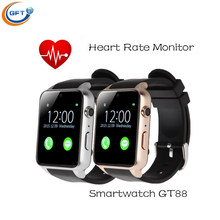 GFT GT88 2502c Smart Uhr GT88 Bluetooth SIM V4.0 Kamera NFC Pulsmesser unterstützung iphone android pk a9 DM360 smartwatch
