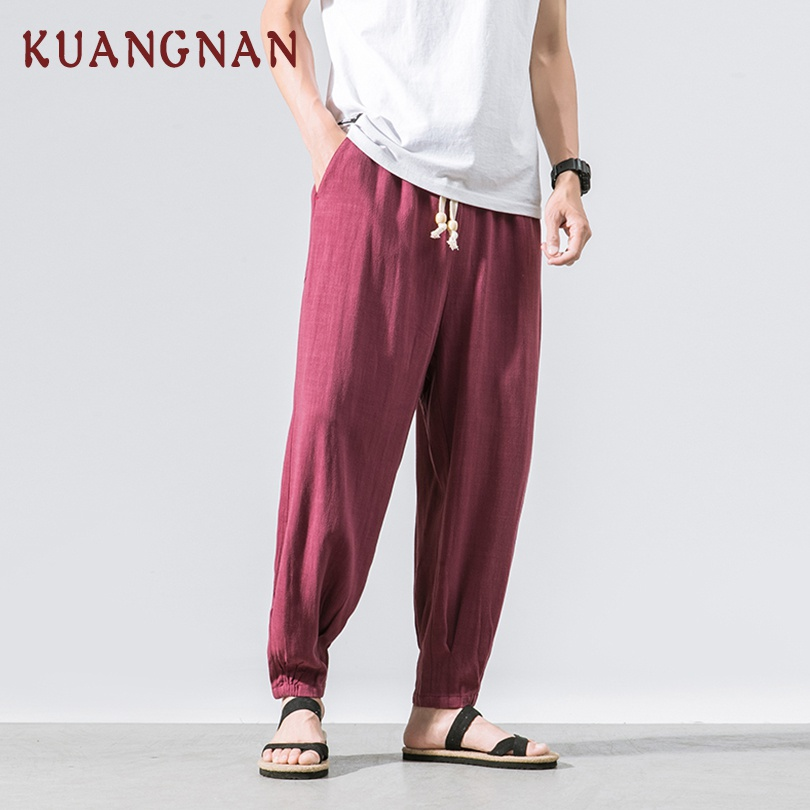 Cargo Pants Men's Clothing Zongke Chinese Style Cotton Cargo Pants Men Trousers Streetwear Sweatpants Cargo Pants Mens Clothing Trousers Men Pants 2019 New Cool In Summer And Warm In Winter