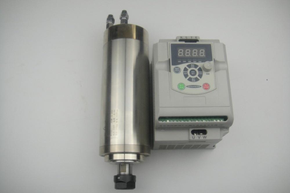 24000 obr./min Wrzeciono frezujące CNC ER20 2.2KW wrzeciono chłodzące wodą + 1 sztuka 2,2 kW falownik VFD