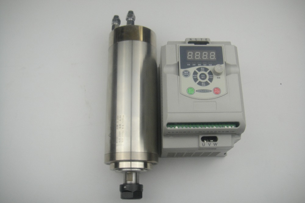 Mandrino di fresatura CNC 24000 rpm ER20 Mandrino raffreddamento acqua 2,2 kW + 1 inverter VFD 2,2 kW