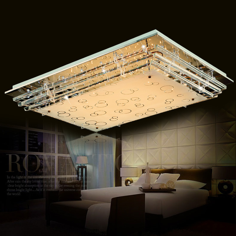 led rectangular living room crystal ceiling lamp atmosphere LED ceiling light modern minimalist bedroom lamp lighting catherine douillet national harmony and its discontents