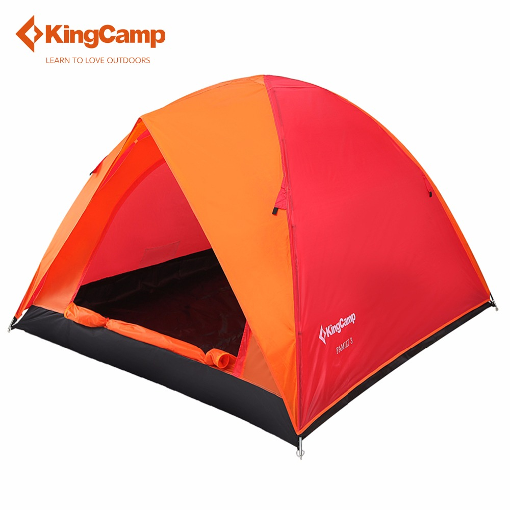 KingCamp 3-Person 2-Season Outdoor Camping Tent for Mountaineering Rainproof Windproof Waterproof Ultralight Tents for Hiking high quality outdoor 2 person camping tent double layer aluminum rod ultralight tent with snow skirt oneroad windsnow 2 plus