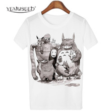 New Cute Totoro T shirt font b Women b font Cartoon 3D Harajuku Casual Tops Tees