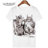 Nuevo lindo Totoro camiseta mujer dibujos animados 3D Harajuku Casual Tops camisetas Blusa talla grande camisetas cuello redondo Camiseta G