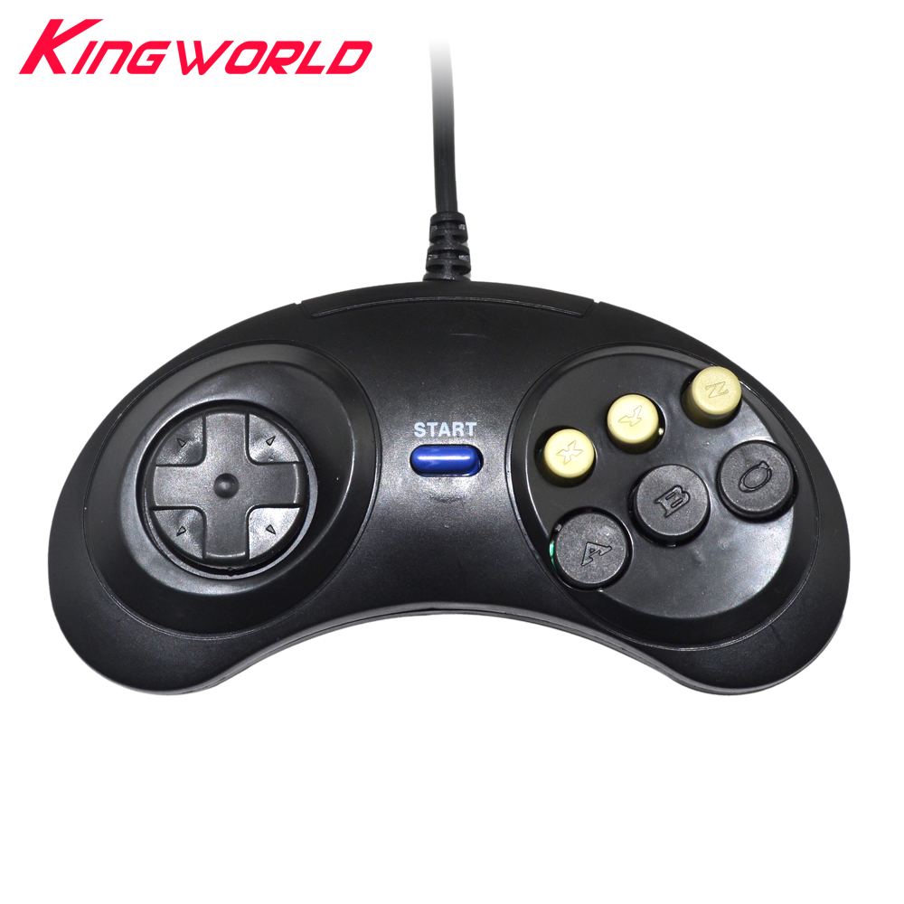 10pcs High quality Classic Wired Game Controller for SEGA Genesis 6 Button Gamepad for SEGA Mega Drive