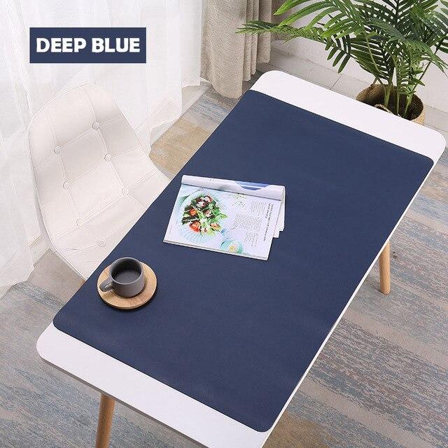 1200X600MM büyük Mouse pad PU deri oyun Mouse pad masası su geçirmez zehirli KeyboadPad alfombrilla ordena fare Mat XXL