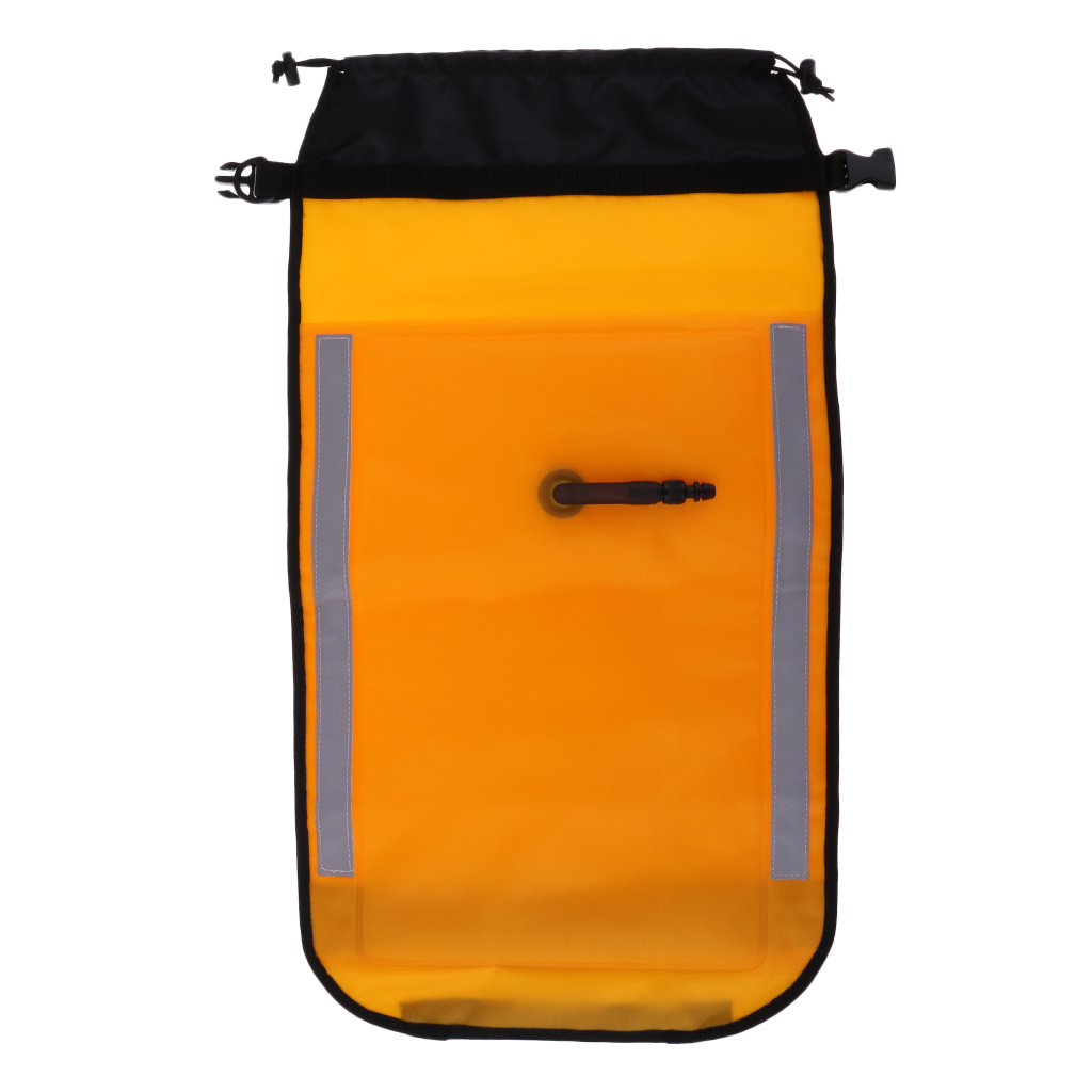 High Visibility Sea Kayak Rescue Floating Bag Inflatable Paddle Float Water Sports Safety Gear Accessories