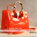 High quality luxury women jelly candy color handbag  summer beach waterproof  rubber beach bag