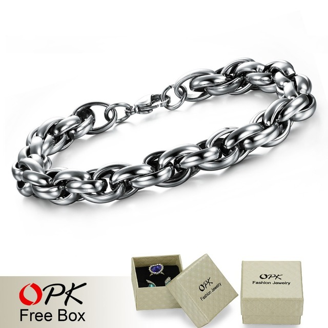 Titanium Steel link Chain Bracelet, Fashion Cable Bracelet. 1