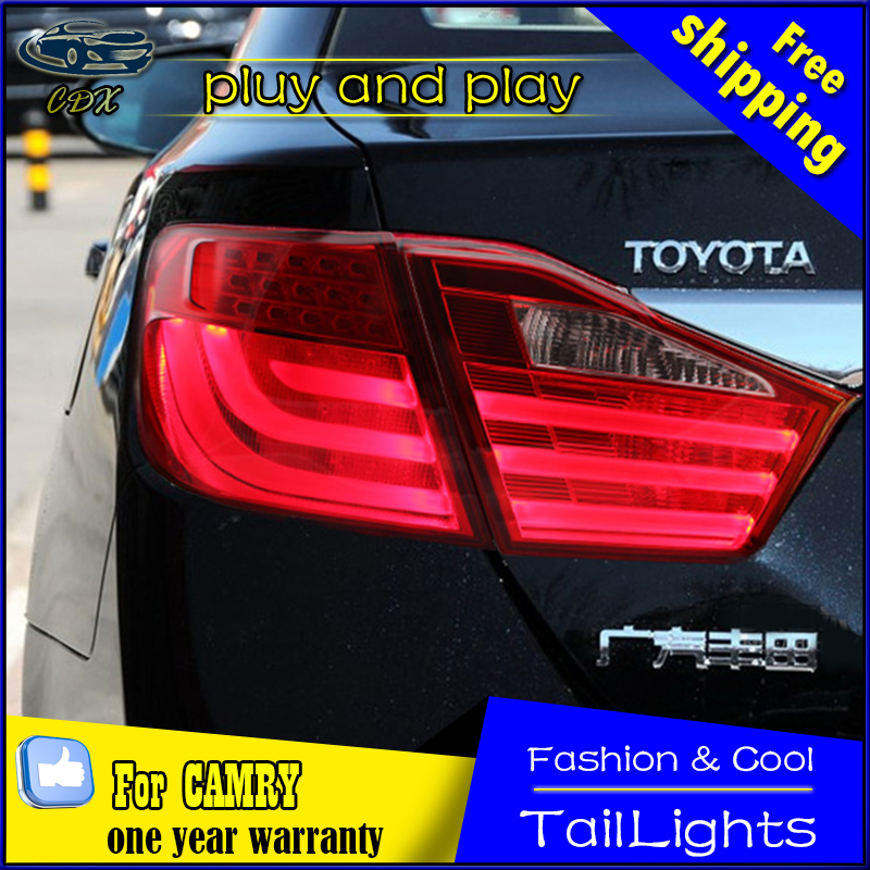 Car Styling Rear lights for  Camry Tail Lights 2012-2014 Camry V50 LED Tail Light Aurion Rear Lamp DRL+Brake+Park+Signal