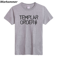 Templar Order T shirts 2017 new mens tee print best fits classic t shirts EU Size lover top solid pattern S-XXXL Black White Red