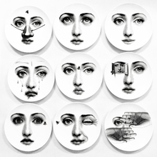 8 Inch Fornasetti Creative Milan Piero Ceramics Plate Wall Hanging Dishes Background Room Home Hotel Decoration 15