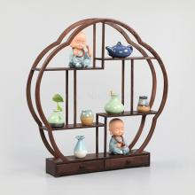 Куриное Крылышко, деревянные старинные чайник полка из красного дерева китайский Duobaoge твердой древесины дисплей стенд украшения циркулярная перегородка
