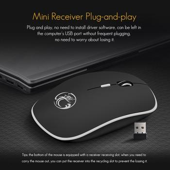 2.4Ghz Wireless USB Silent Noiseless Mouse 1600 DPI Ergonomic Mice for Laptop 3